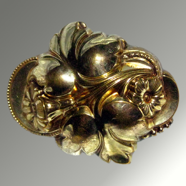 Victorian Stamped Floral Brooch