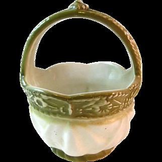 Vintage Czech Pottery Basket Decorative Home Decor