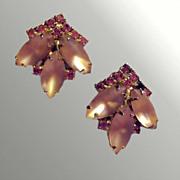 Weiss Pink Rhinestone Earrings