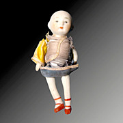 Asian Bisque Doll With Original Clothing