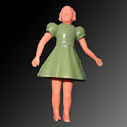 1950's Dollhouse Doll with Plastic Dress