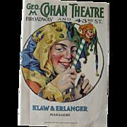 Cohans Theater 1920s Program / Playbill / Paper Ephemera / Advertising / New York Memorabilia / Scrapbooking / Vintage Advertising