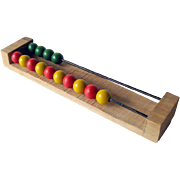 Vintage Wooden Bead Abacus / Vintage Toy / Math Toy