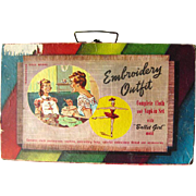 Childs Embroidery Sewing Boxed Set 1959 by Transogram With Lots of Extras / Vintage Toy / Vintage Sewing
