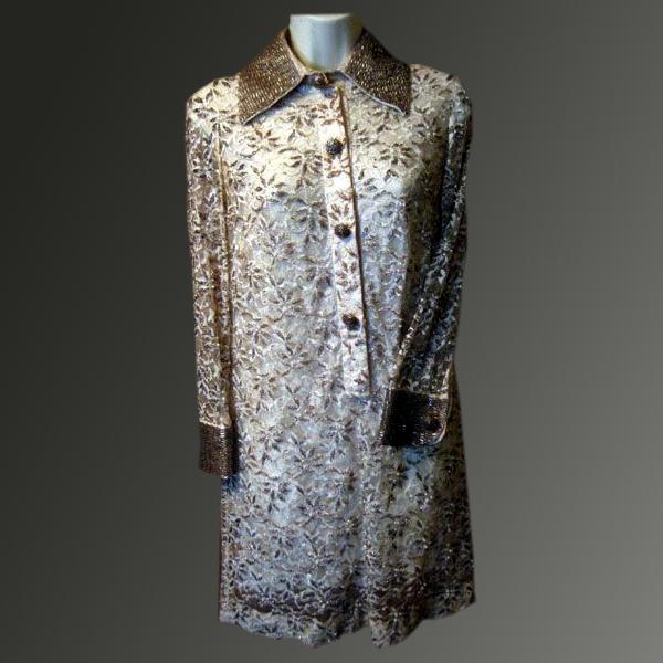 Stunning 1960's Beaded Dress