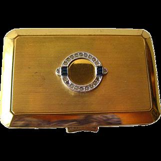 Richard Hudnut Compact Art Deco Rhinestone / Bridesmaid Gift / Vanity Item / Purse Accessory / Makeup Compact
