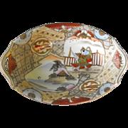 Nippon Oval Dish Handpainted  Circa: Pre 1921