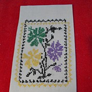 Vintage Cross Stitched Guest Towel