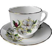 Elizabethan by Taylor and Kent Cup & Saucer with Dogwoods