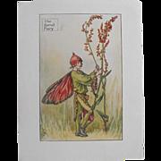 Flower Fairy Print  Circa 1940