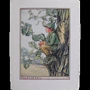 Tree Fairy  Print by Cicely Mary Baker circa 1940