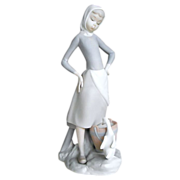 Lladro Figurine: Girl with Milk Pail, #4682