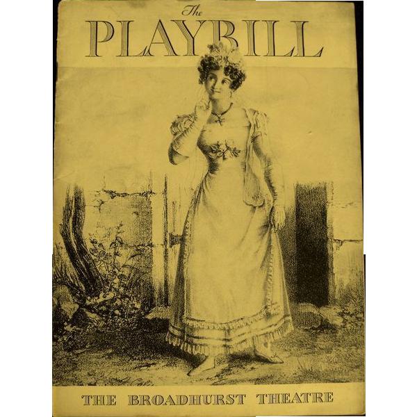 Playbill: The Broadhurst Theatre  1935