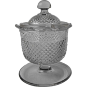 EAPG lidded condiment with foot