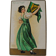 Erin Go Bragh: Lady with Harp Flag