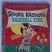 Rootie Kazootie Baseball Star - 1954 Little Golden Book - 1st Edition