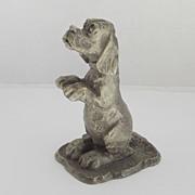 1975 Hallmark LITTLE GALLERY Fine Pewter Begging Hound Dog