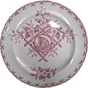 Aesthetic Movement Dinner Plate Alaska Pattern in red