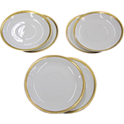 PMS Turin Bavaria - 6 Saucers - Gold trimmed in hearts