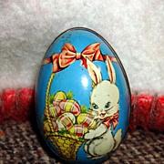 Vintage Tin Easter Bunny Egg - England