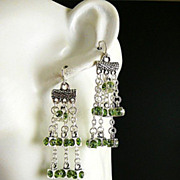 Peridot Pizazz ~ Out of My Mind Earrings