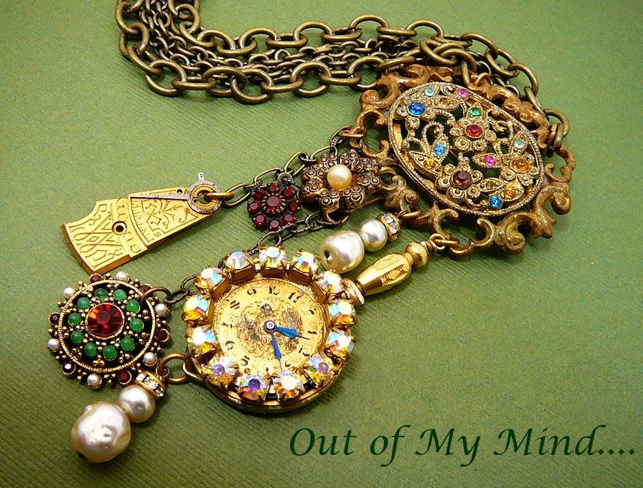 Vintage Charm ~ Out of My Mind Necklace