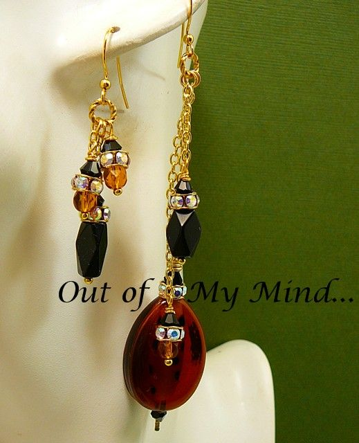 Wild Child Designs ~ Out of My Mind Asymmetrical Earrings