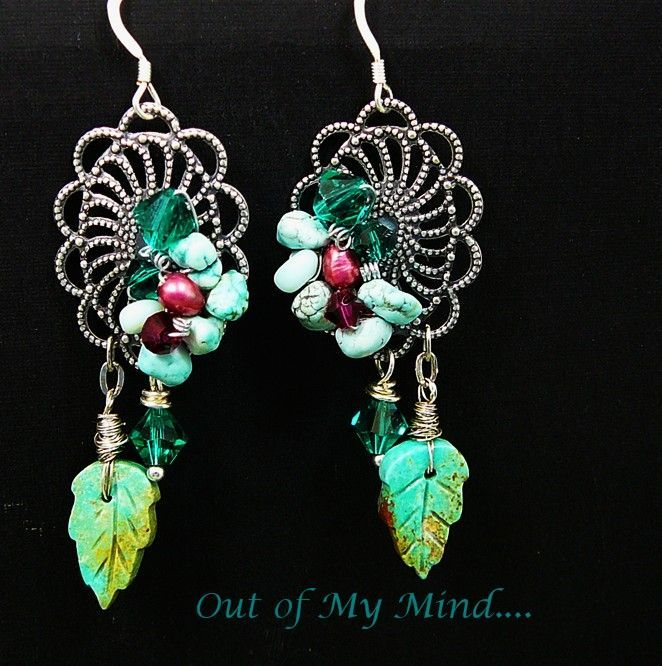 Turquoise Treasure ~ Out of My Mind Earrings