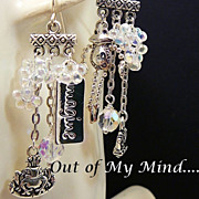 Prince Charming ~ Out of My Mind Asymmetrical Earrings