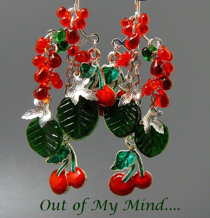Oh My! Cherry Pie ~ Out of My Mind Earrings
