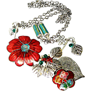 Cloisonne Gardens - Out of My Mind Necklace