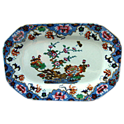 "Spode Tray or Teapot Stand, New Stone, ""Willis"" Pattern,  Antique Chinoiserie, c 1825"