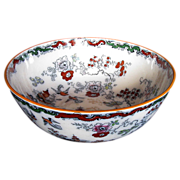 Mason's Ironstone Punch Bowl/Sideboard Bowl, Chinoiserie, Antique 19th C