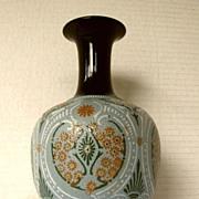 Lovatt Vase Langley Mill, Antique 19th C English Art Pottery, Repaired