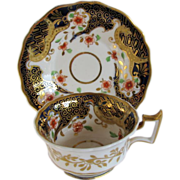 Ridgway Cup & Saucer, English Imari, Antique Early 19th C Porcelain