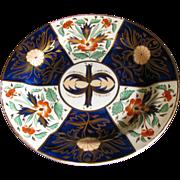Rare Wedgwood Plate, Gilded Imari Crab Claw Pattern, Antique c 1815