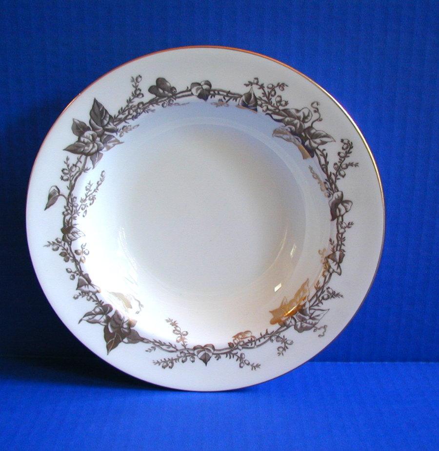 Mintons  Soup Bowl, Lothian Pattern, Gold Rimmed, Vintage English China