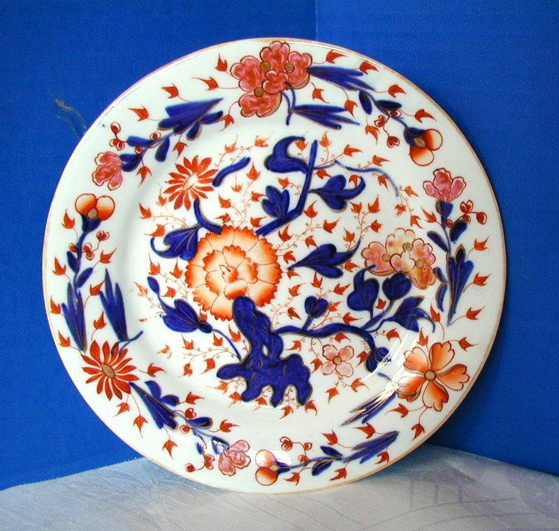 John Rose Coalport Plate,English Imari, Antique Early 19th C Porcelain