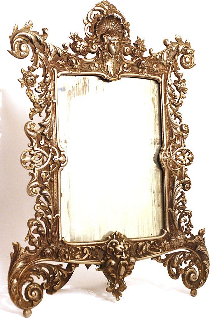 French Standing Vanity Mirror