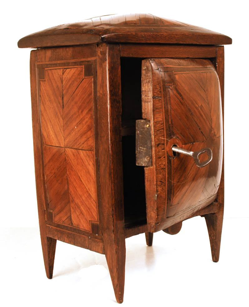 Rare Early Nineteenth Century French Standing Miniature Bombé Cabinet