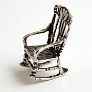 1890 Austrian Silver Hallmarked Miniature Rocking Chair
