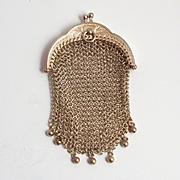 A Beautiful Silver French  Porte Monai Debutant's  Purse 1860 Hallmarked