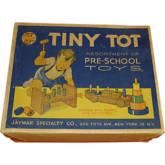 SALE 1950's Tiny Tot Toys, Original Box, Exceptional Condition, Display Piece, New York, Jaymar Specialty Co.