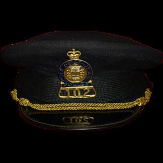 SALE Vintage Police Cap / Hat, City of Saint John  ( St. Jean ), Quebec Canada, St. Lawrence River