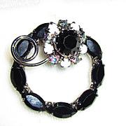 Vintage Black Pin/Broach