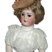 "17 1/2""  Simon & Halbig 1159 Gibson Girl German Bisque Doll Gorgeous"