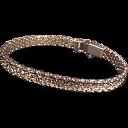 Signed Monet Gold Tone Bracelet Safety Catch