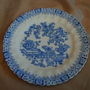 Set of Three Blue & White Plates - R S Tillowitz