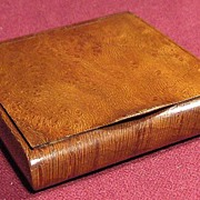 Russian Art Beautiful 19th Century Exotic Wood Cigarette Case