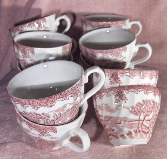 Churchill Cups in the Brook Pattern in Pink